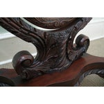 Image of Antique Mahogany Swan & Eagle Carved Cheval Mirror