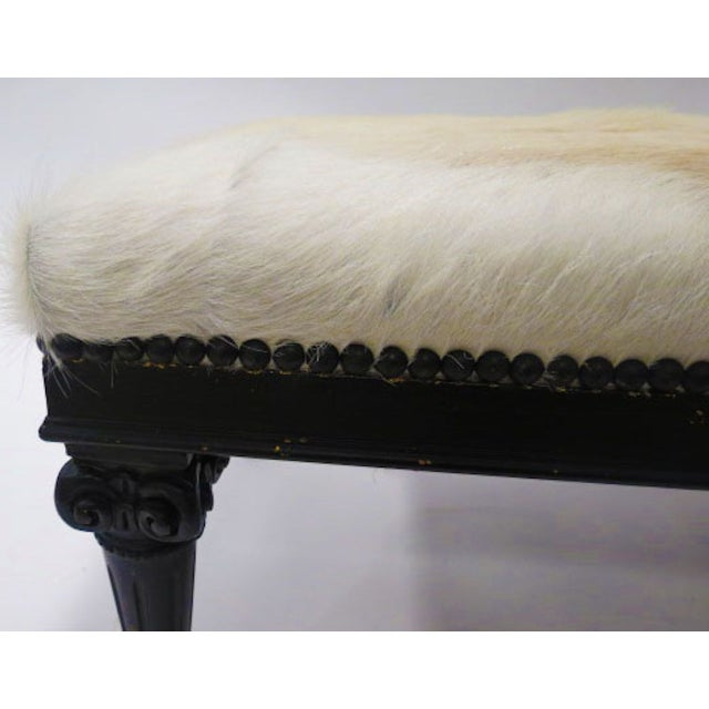 Image of Cowhide Ottomans - A Pair