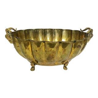 Brass Footed Ram Head Bowl