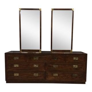 Henredon Campaign Dresser & Mirrors