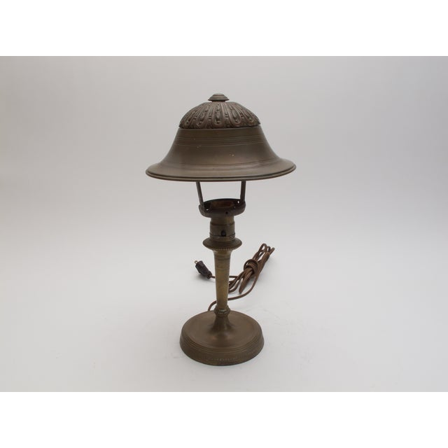 Image of Antique Brass Table Lamp C. 1930s