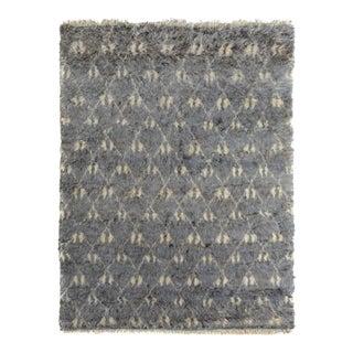 Moroccan Arya Tyree Gray & Ivory Wool Rug - 8'2 X 10'2