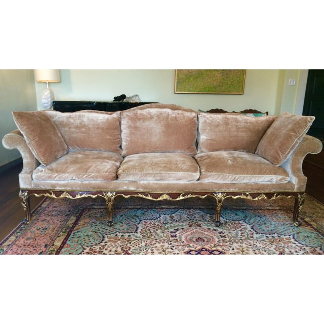 French Louis XV Style Finely Carved Walnut Sofa or Canape - Image 2 of 6