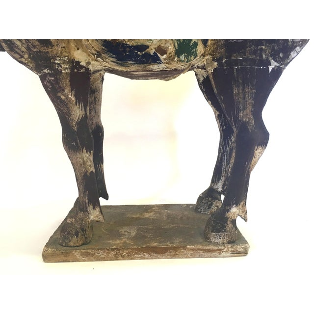 Hand Carved Painted Wooden Horse - Image 5 of 7