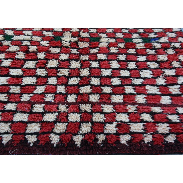 Red & White Moroccan Rug - 5' X 4'3'' - Image 3 of 4