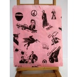 Image of Vintage Pink Graphic Paper Bags - Set of 10