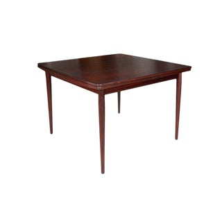 Rosewood Square Dining Table by Kurt Ostervig, Expandable