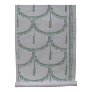Vintage Travers & Co. Ribbon and Tassel Pattern Wallpaper - 67 Yards