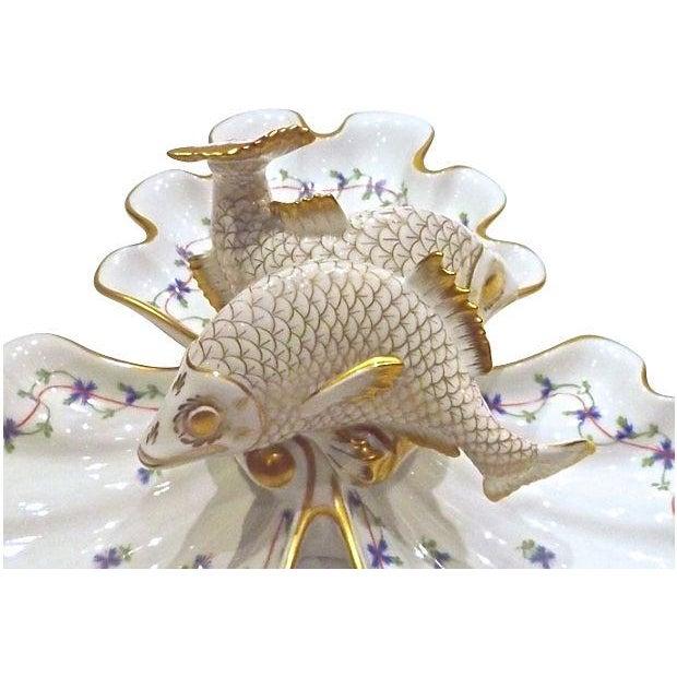 Vintage Herend Porcelain Fish & Shell Serving Tray - Image 4 of 9