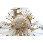 Image of Vintage Herend Porcelain Fish & Shell Serving Tray