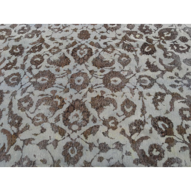 """Overdyed Distressed Persian Rug - 9' X 10'4"""" - Image 10 of 10"""