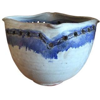 Vintage Indigo Studio Pottery Bowl