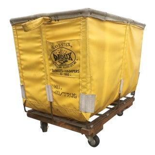 Yellow Dandux Laundry Cart