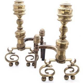 American Brass Federal Andirons - A Pair