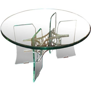 A Rare Crystal Occasional Table by P. Chiesa for Fontana Arte