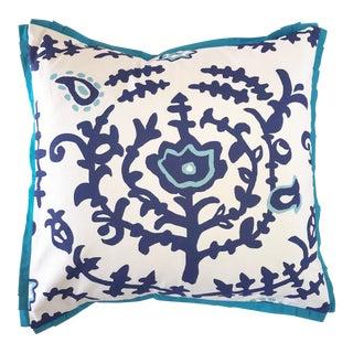 Turkish Blue Square Pillow