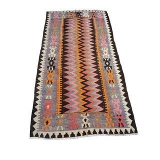 """Vintage Moroccan Kilim Rug - 3'9"""" x 7'1"""""""
