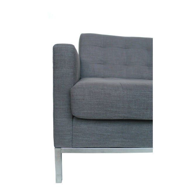 Florence Knoll Grey Settee - Image 3 of 3