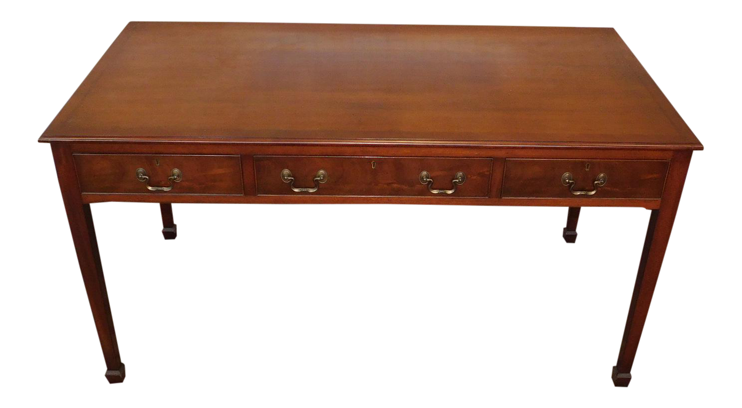 Captivating 1940s Mahogany Beacon Hill Collection Furniture Georgian Style Partners  Writing Desk #434