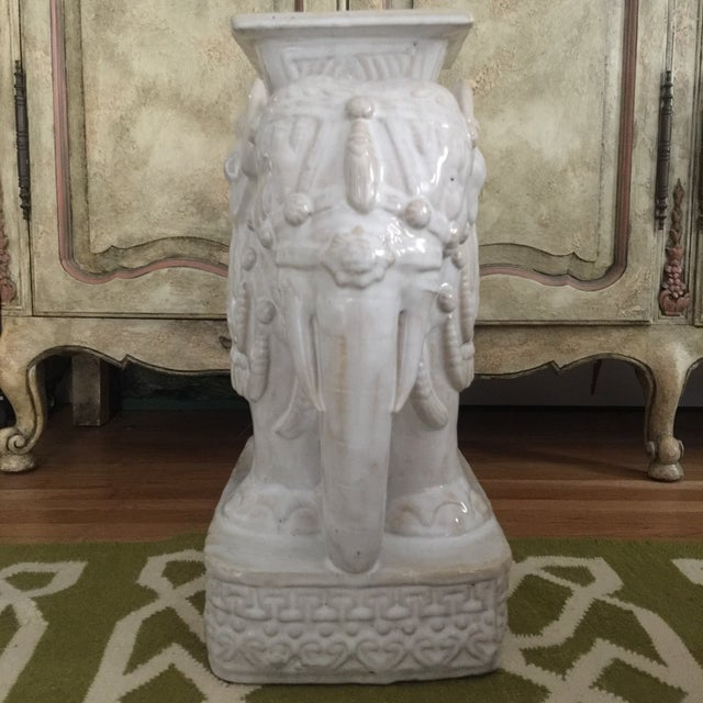 Elephant Shaped Terracotta Garden Seat / Stool - Image 5 of 11