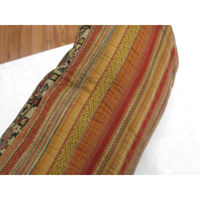 Distressed Persian Rug Pillow - Image 4 of 5