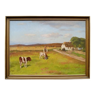 Grazing Cattle Oil Painting
