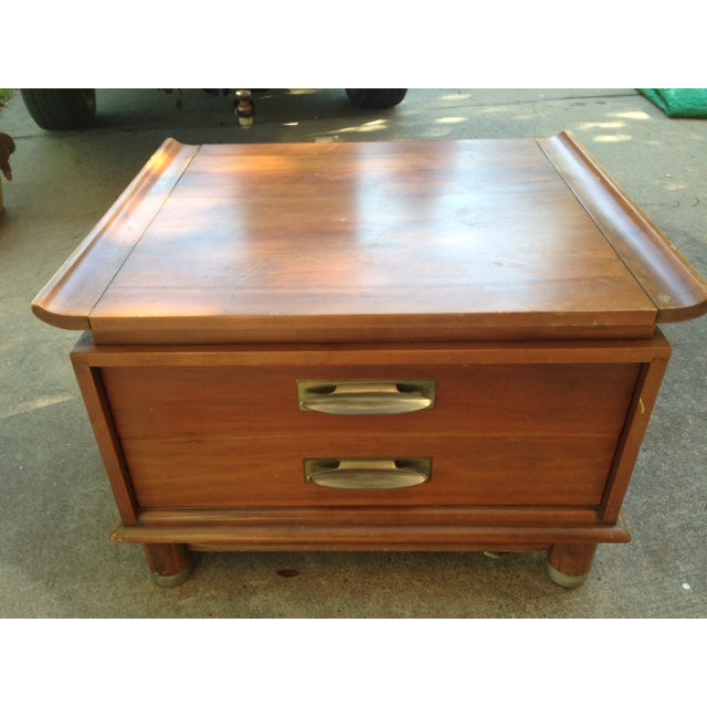 Willett Trans-East Cherry Wood Side Table - Image 2 of 5
