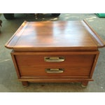 Image of Willett Trans-East Cherry Wood Side Table