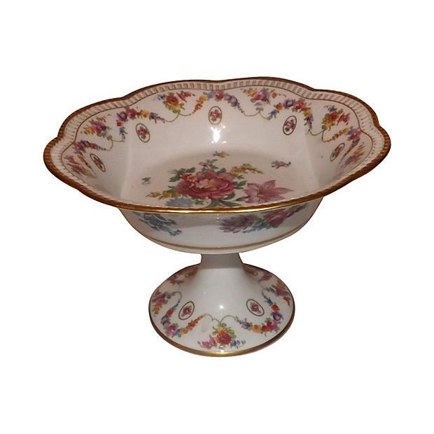 19th C. Hand Painted Porcelain Compote - Image 5 of 5