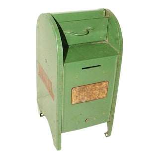 1960s Vintage Tin Mail Box
