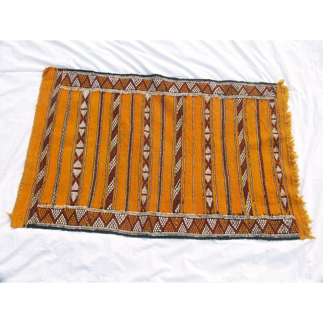 "Moroccan Berber Tribal Kilim Rug - 2' 11"" x 4' 7"" - Image 2 of 4"