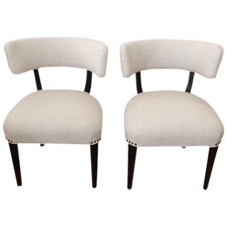 Mid-Century Modern White Side Chairs - A Pair