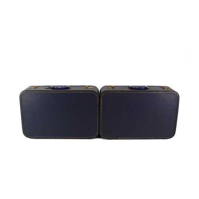 Image of Navy Luggage - Pair