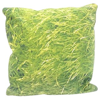 Vintage Grass & Basket Weave Pattern Pillow