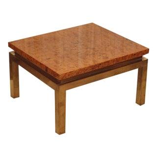 Guy Lefevre for Maison Jansen Lacquered Burl Laminate Side Table