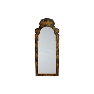 Black Framed Chinoiserie Mirror