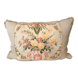 Vintage Pleated Floral Pillow