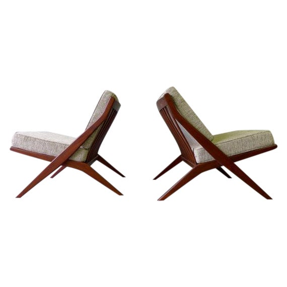 Mid Century Modern Scissor Lounge Chairs - Pair - Image 1 of 6