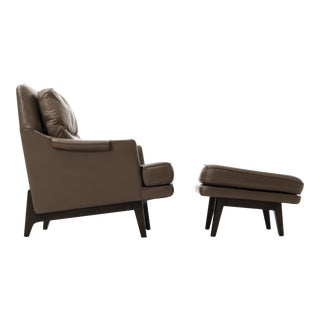 Edward Wormley Lounge Chair and Ottoman
