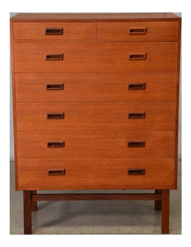 danish teak seven drawer highboy dresser - Highboy Dresser