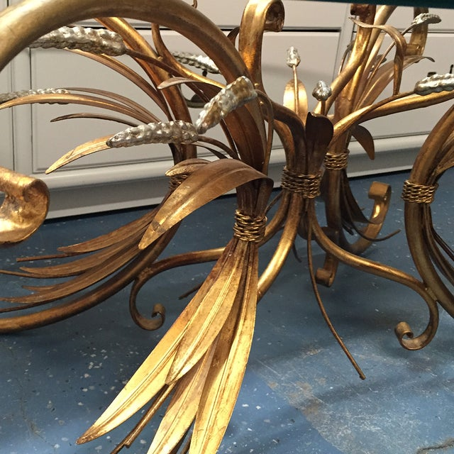 Image of Gilt Wheat Motif Coffee Table