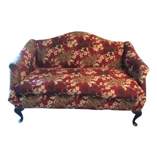Refurbished Floral Motif Settee