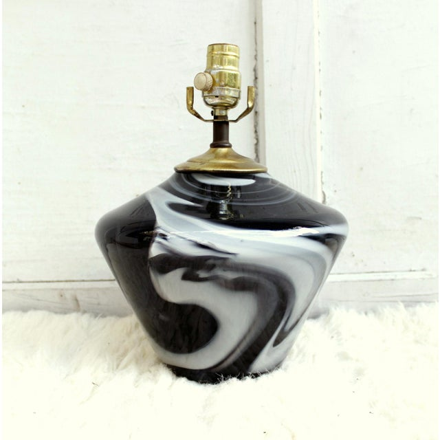 Image of Vintage Glasslight Studio Art Glass Lamp