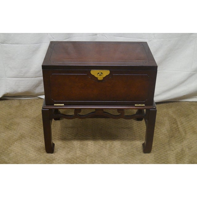 Asian Style Chest on Frame End Table - Image 2 of 10