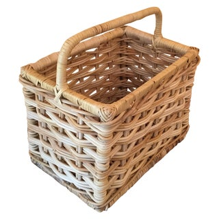 Rectangular Wicker Basket With Handle