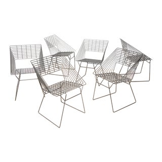 Verner Panton Attr. Wire Chairs - Set of 6