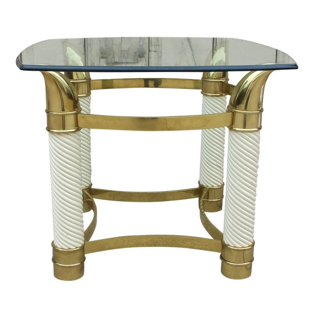 1970's Designer Faux Tusk's Table - Image 1 of 5