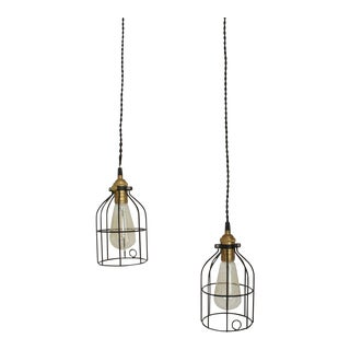 Industrial Pendant Lamps- A Pair