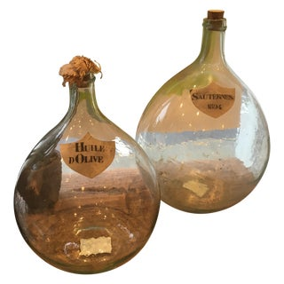 Vintage French Bottles - Pair