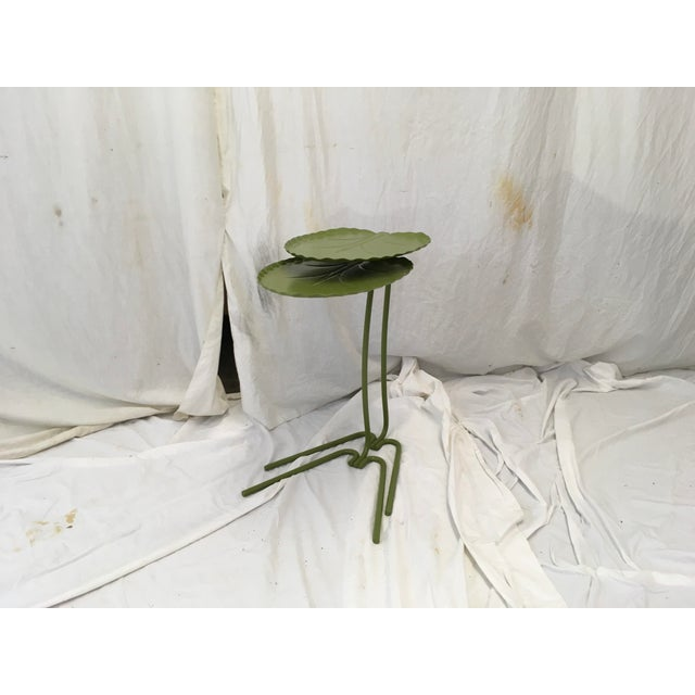 Salterini Green Lily Pad Tables, S/2 - Image 10 of 10